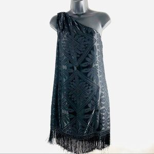 Chelsey And Violet  black Dress One Sleeve NWT